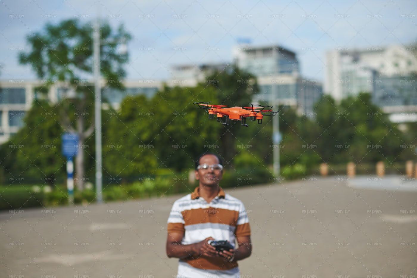 Operating Drone: Stock Photos