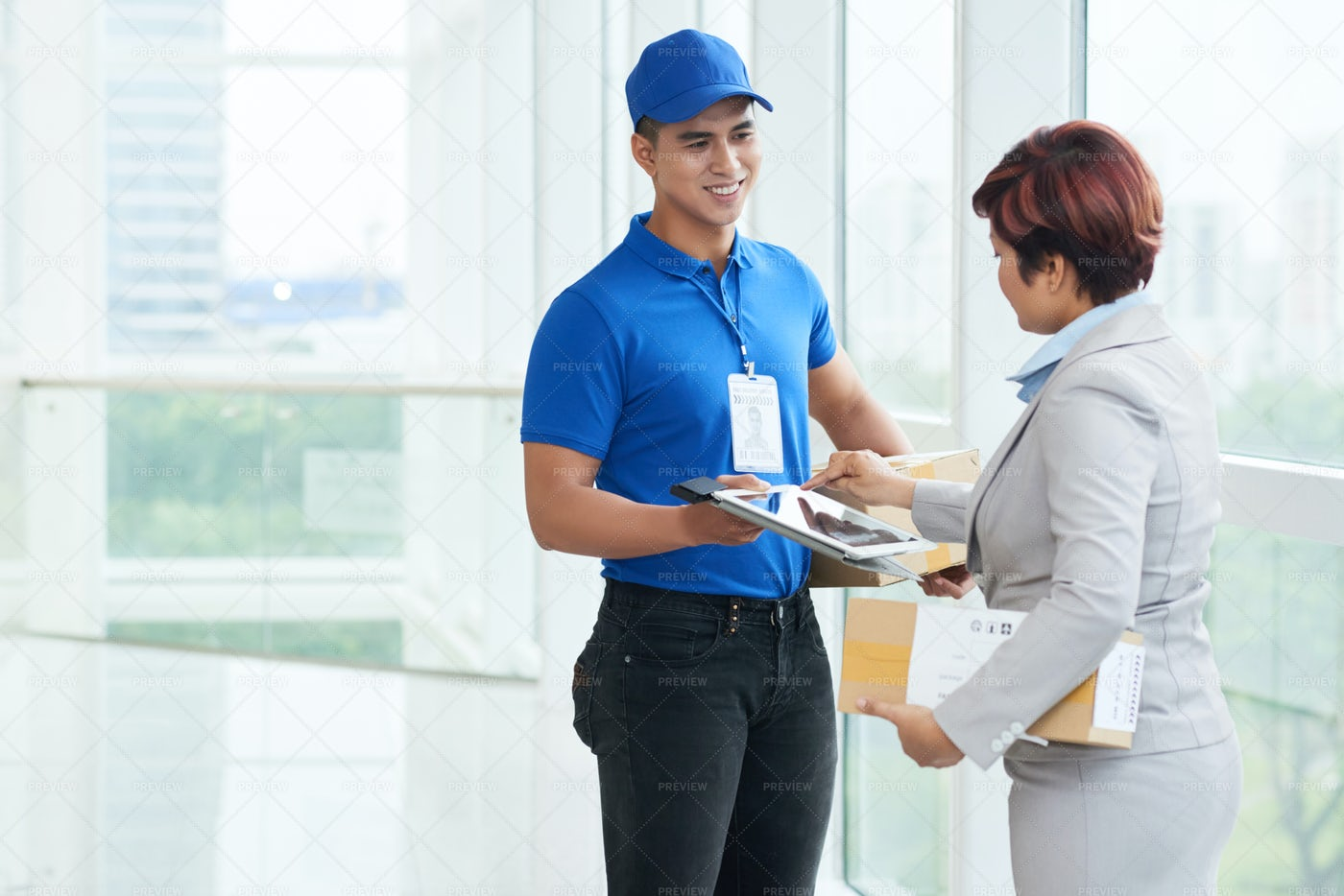 Receving Package: Stock Photos