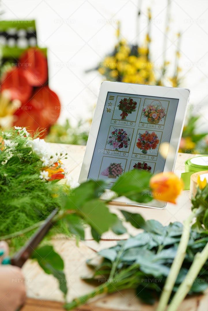 Flower Shop Application: Stock Photos
