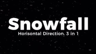 Snowfall. Horisontal Direction.: Motion Graphics