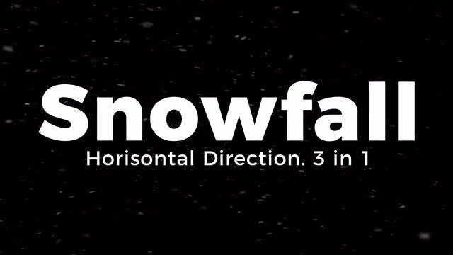 Snowfall. Horisontal Direction.: Stock Motion Graphics