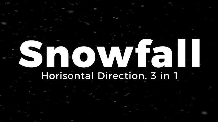 Snowfall. Horisontal Direction.: Motion Graphics