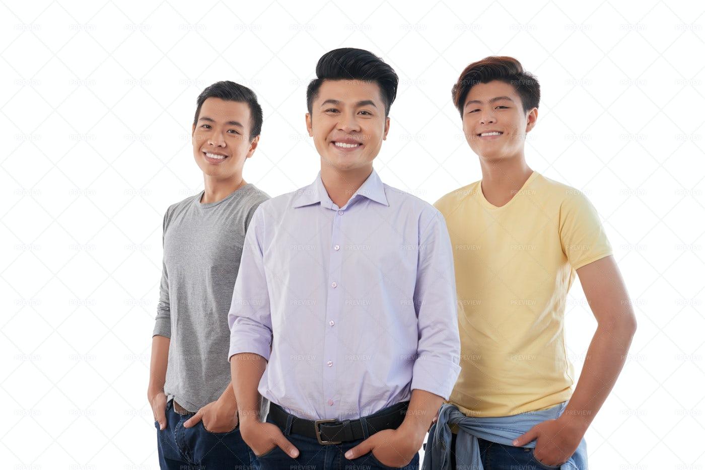 Handsome Young Men: Stock Photos