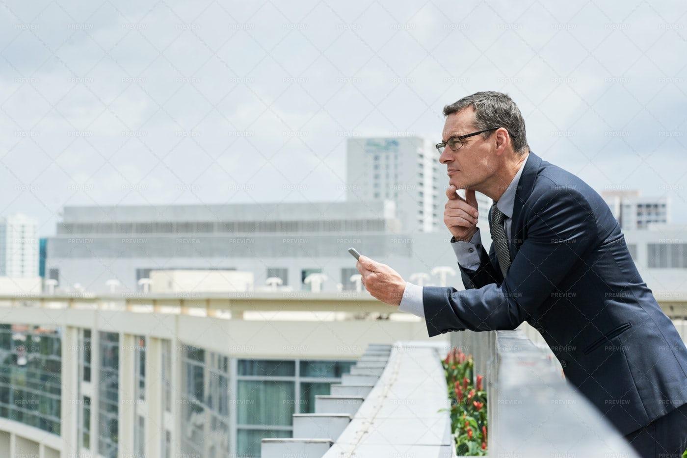 Thinking Ambitious Businessman: Stock Photos