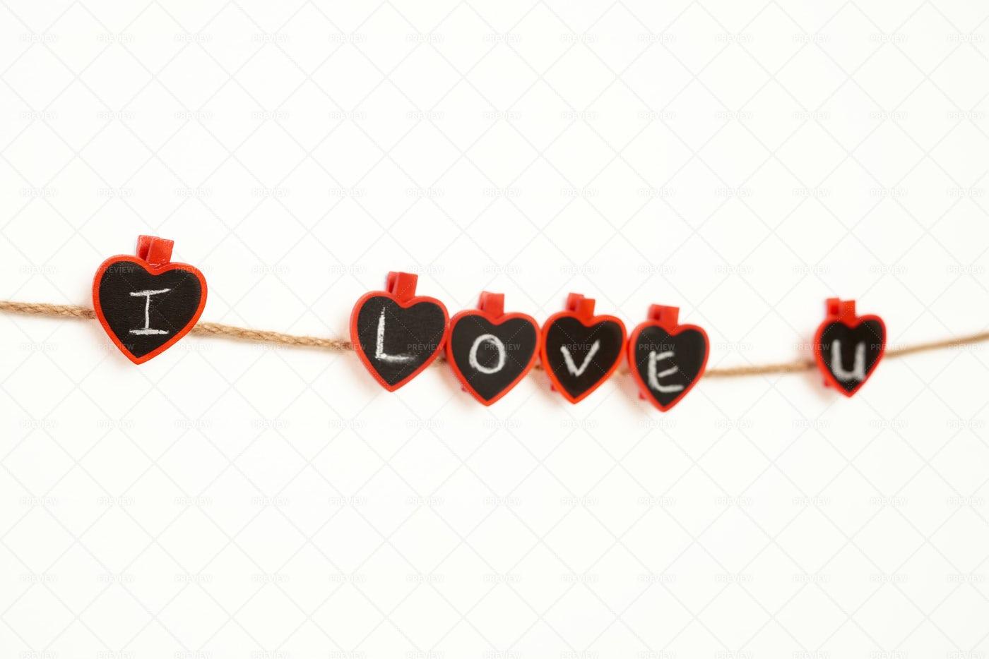 I Love You Message: Stock Photos
