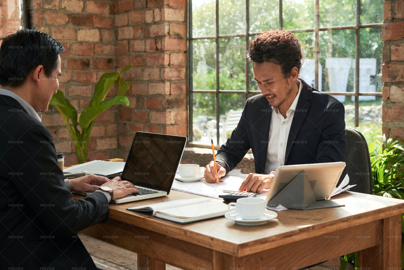 Business People Busy With Work: Stock Photos