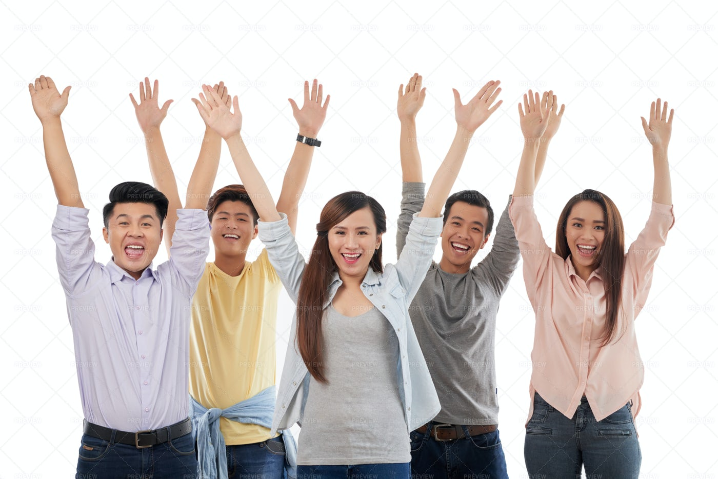Excited Young People: Stock Photos