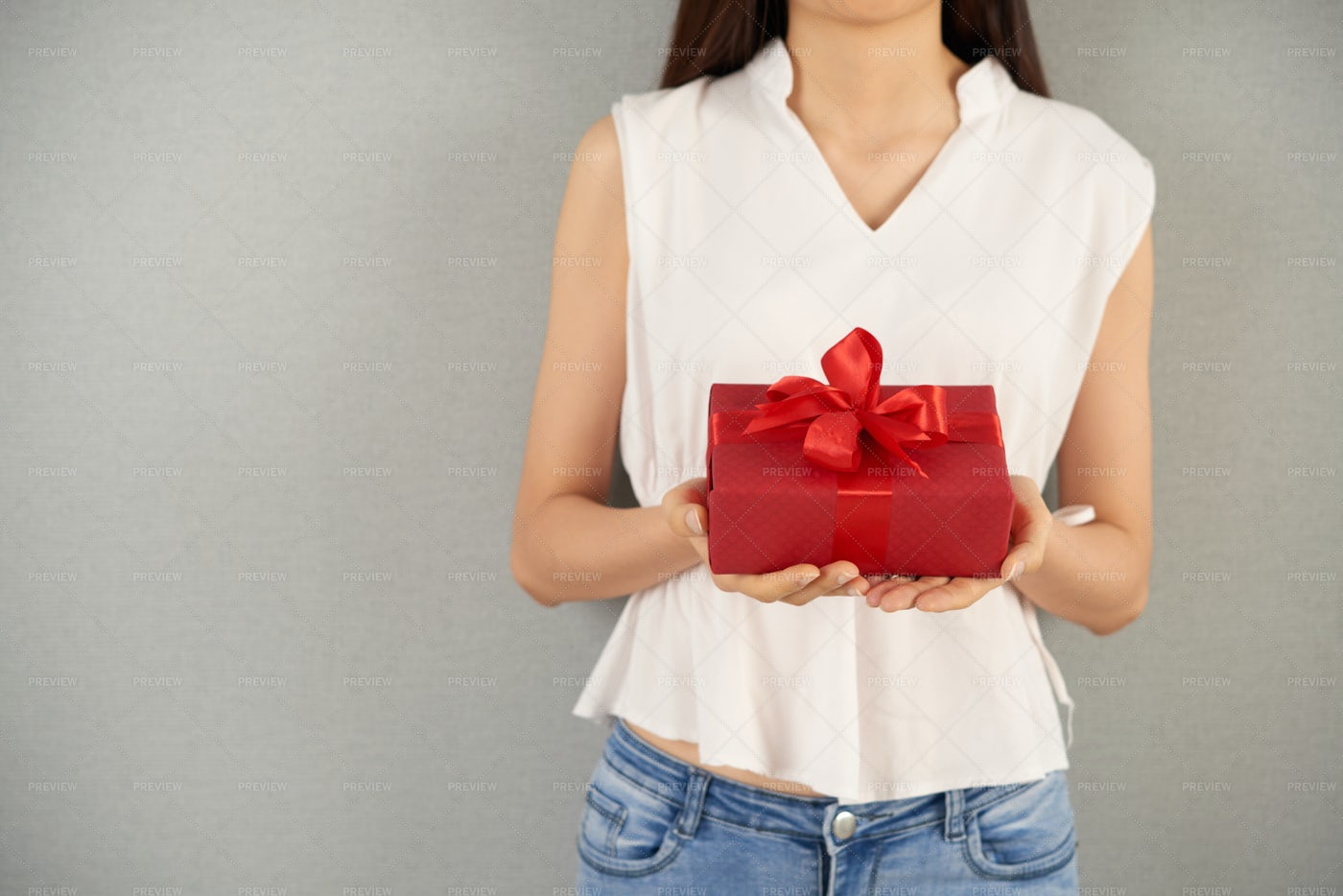Gift On Valentines Day: Stock Photos
