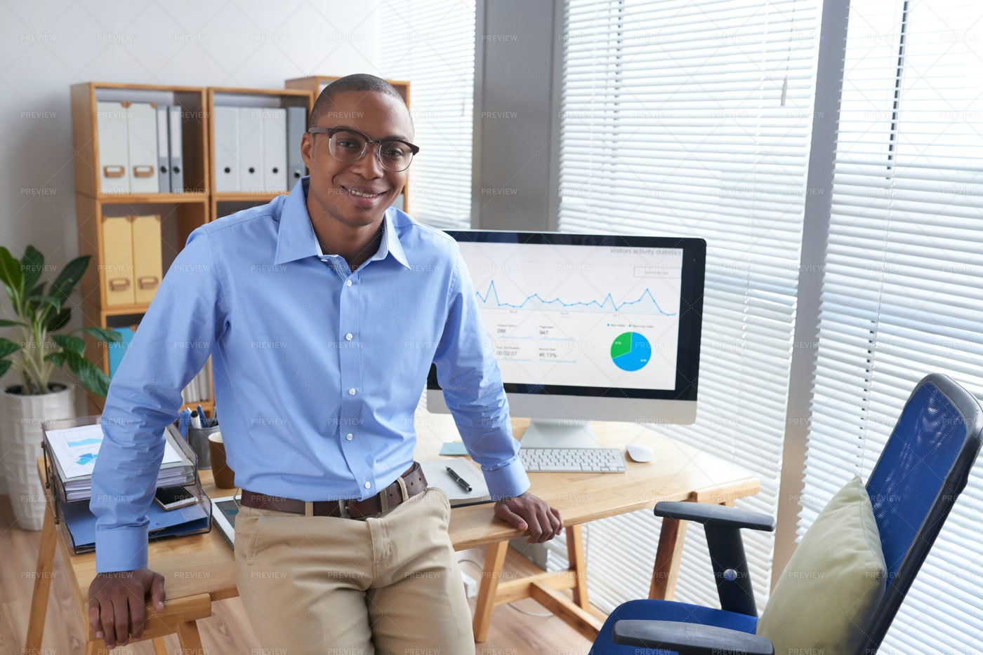 Cheerful Financial Manager: Stock Photos
