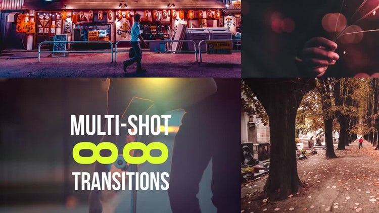 88 Multi-Shot Transitions: Premiere Pro Templates