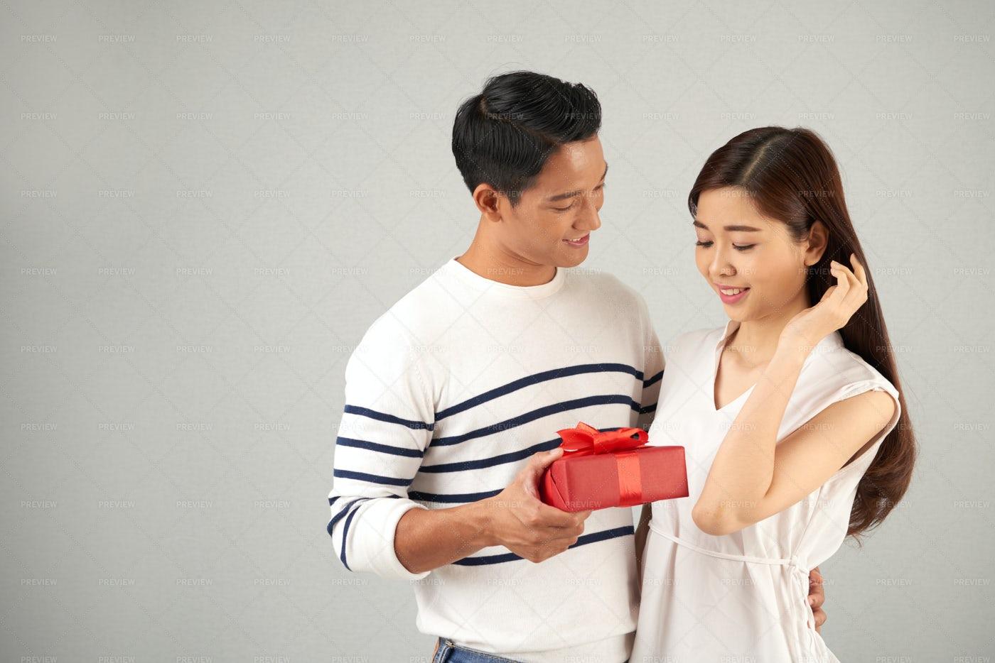 Valentine Gift For Girlfriend: Stock Photos