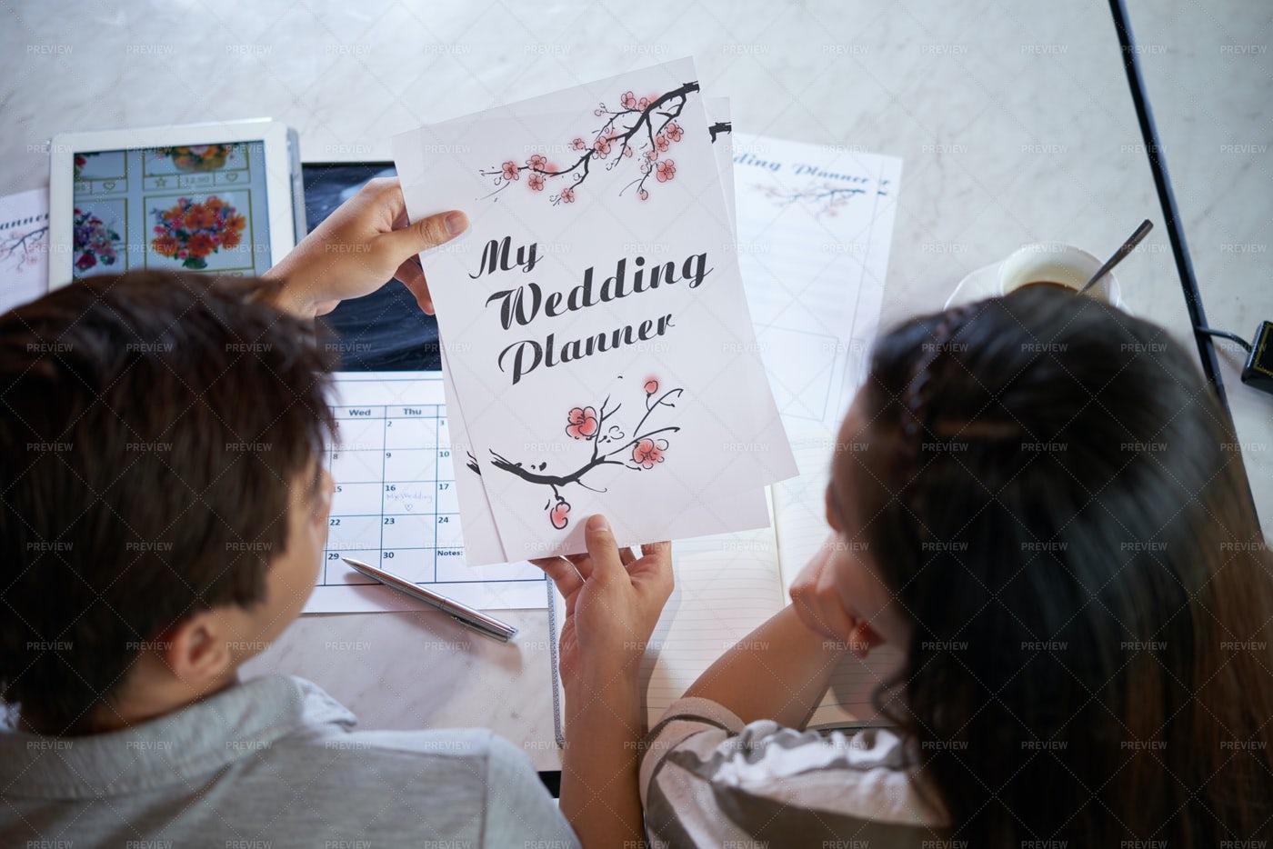 Wedding Preparations At Full Speed: Stock Photos