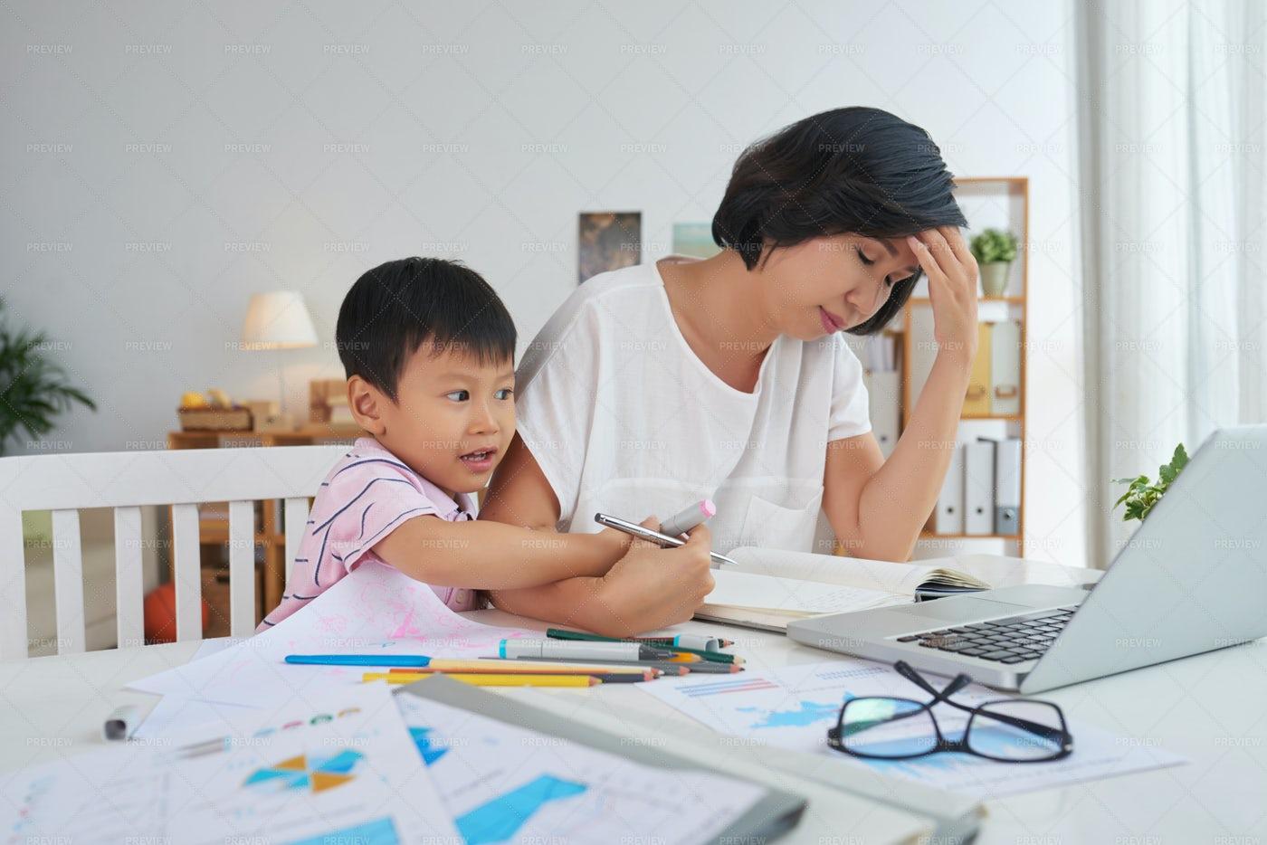 Interfering Son: Stock Photos