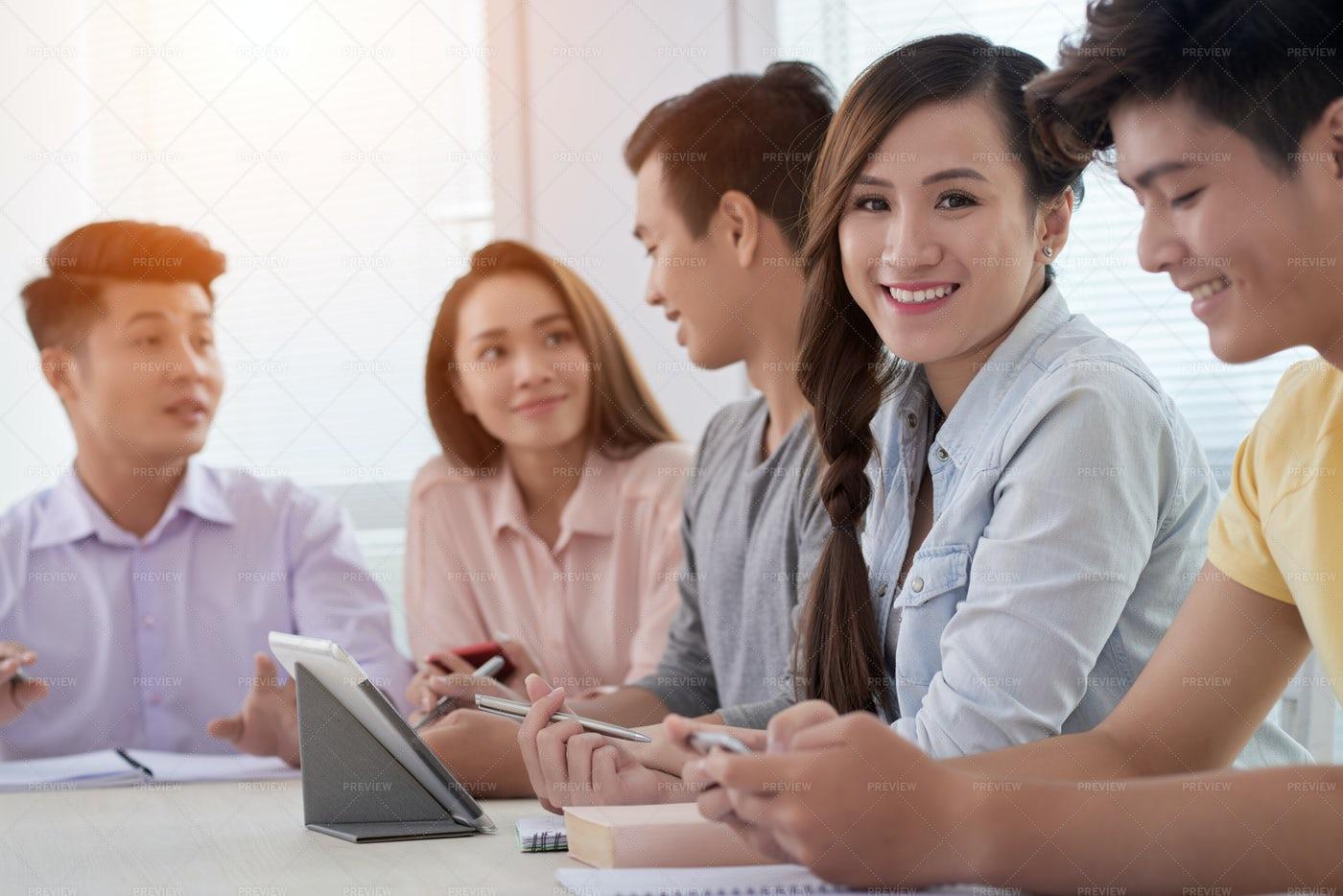 Attanding Business Meeting: Stock Photos
