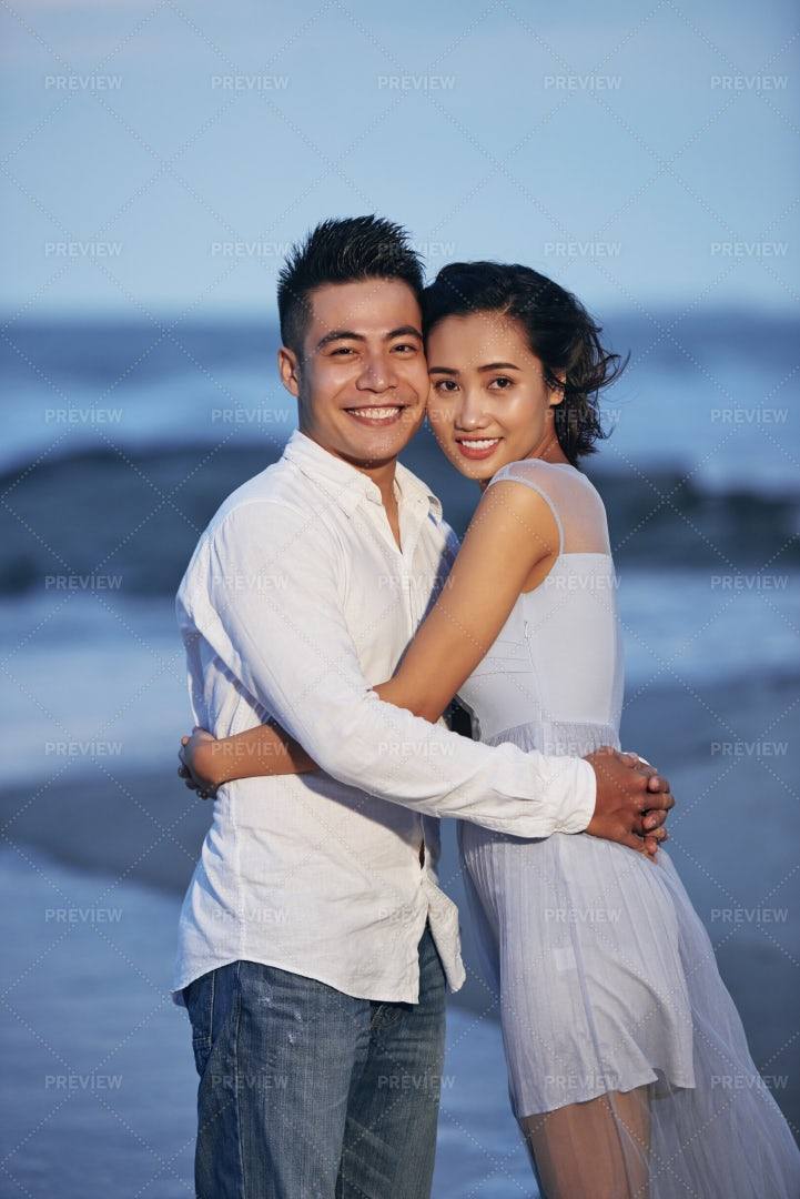 Cheerful Young Couple In Love: Stock Photos