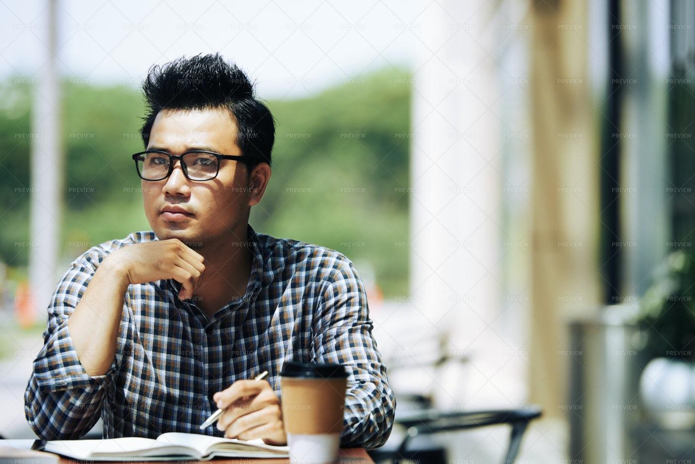 Pensive Creative Student: Stock Photos