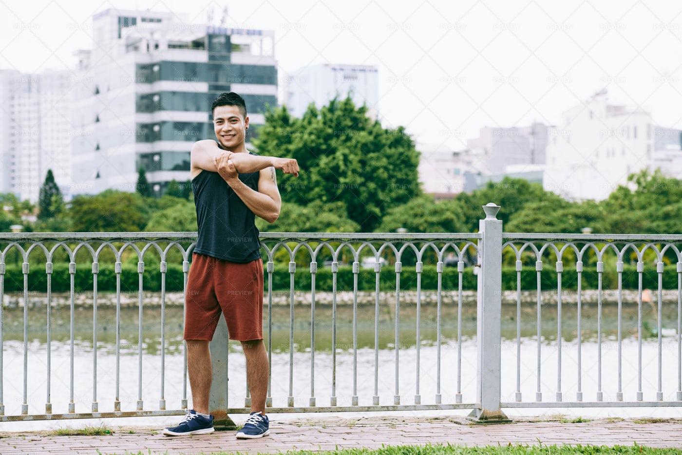 Arm Stretch: Stock Photos