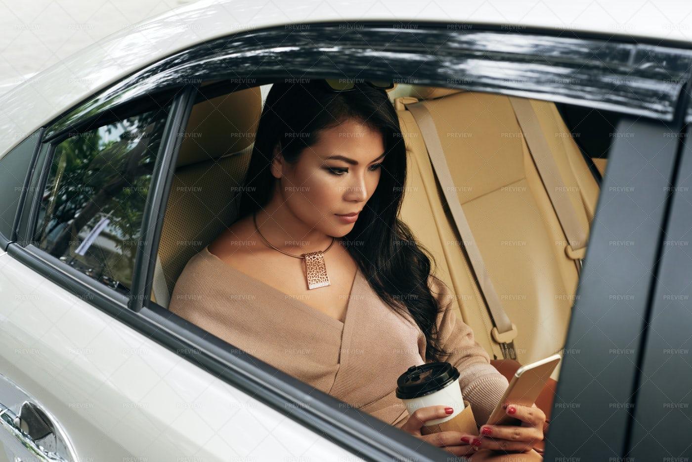 Beautiful Woman Reading Text...: Stock Photos