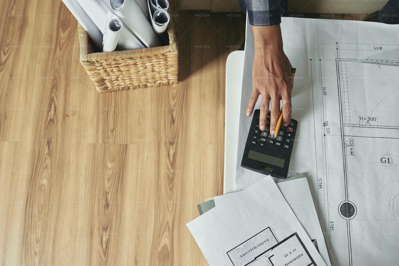 Drawing Building Plan: Stock Photos