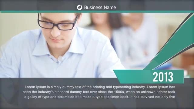 Corporate Business Timeline: After Effects Templates