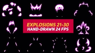 Liquid Elements Explosions 21-30: Motion Graphics