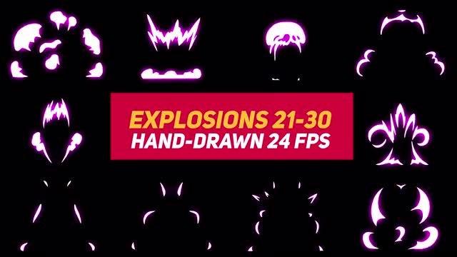 Liquid Elements Explosions 21-30: Stock Motion Graphics