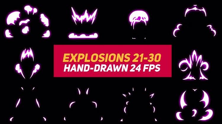 Liquid Elements Explosions 21-30: Motion Graphics