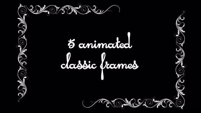 Vintage Animated Frames Pack: Stock Motion Graphics