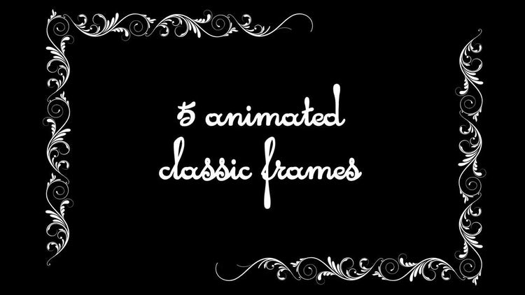 Vintage Animated Frames Pack: Motion Graphics