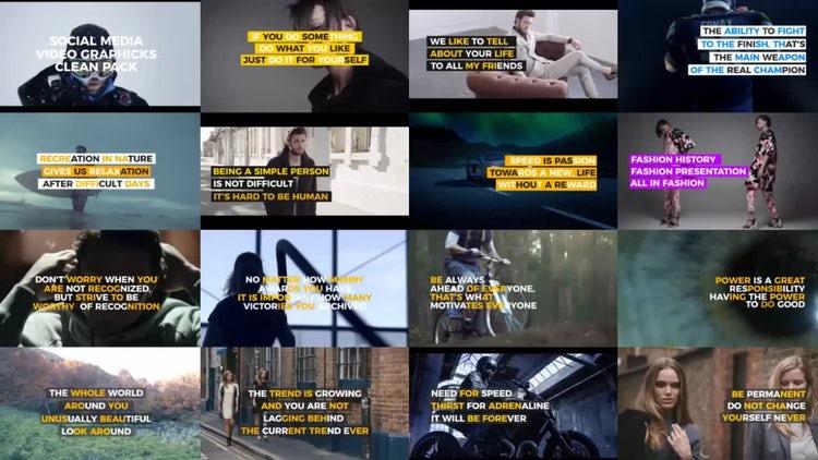 Clean Social Media Video Graphics : Premiere Pro Templates