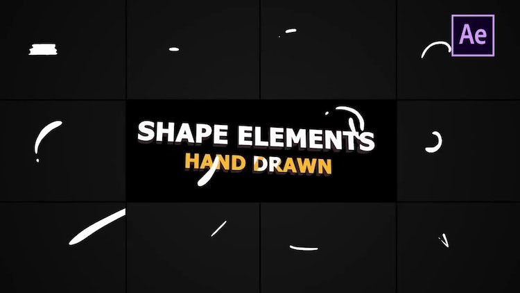 Flash FX Shape Elements: After Effects Templates