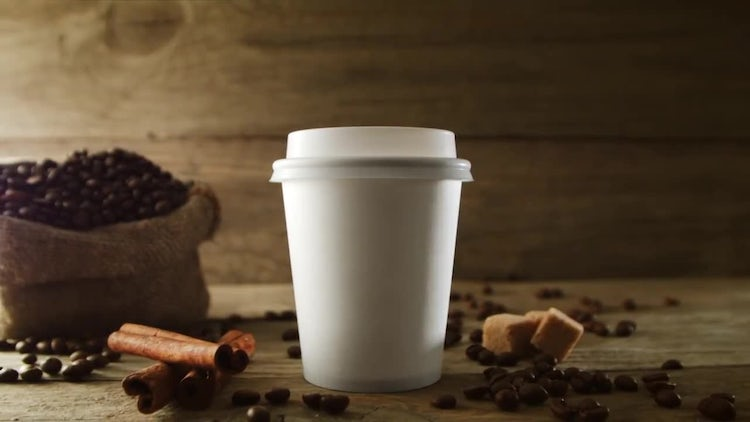 Paper cup of coffee: Stock Video