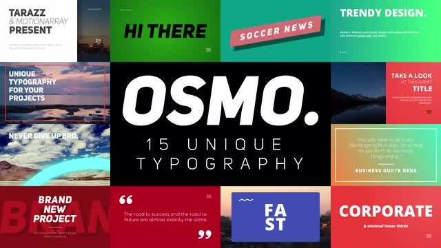 Osmo: Motion Graphics Templates