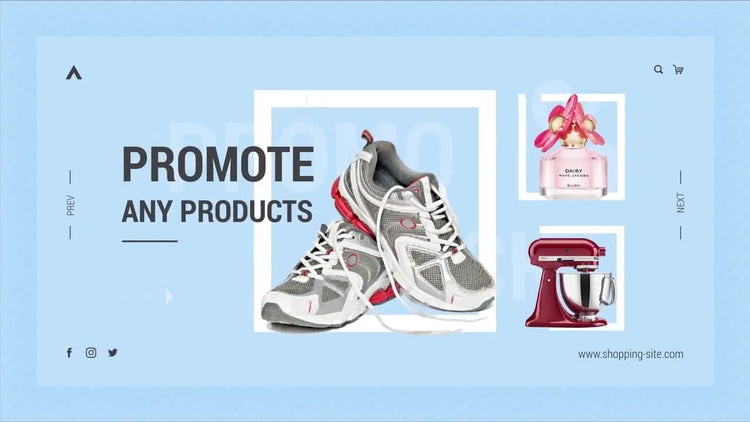 Online Shopping Promo: After Effects Templates