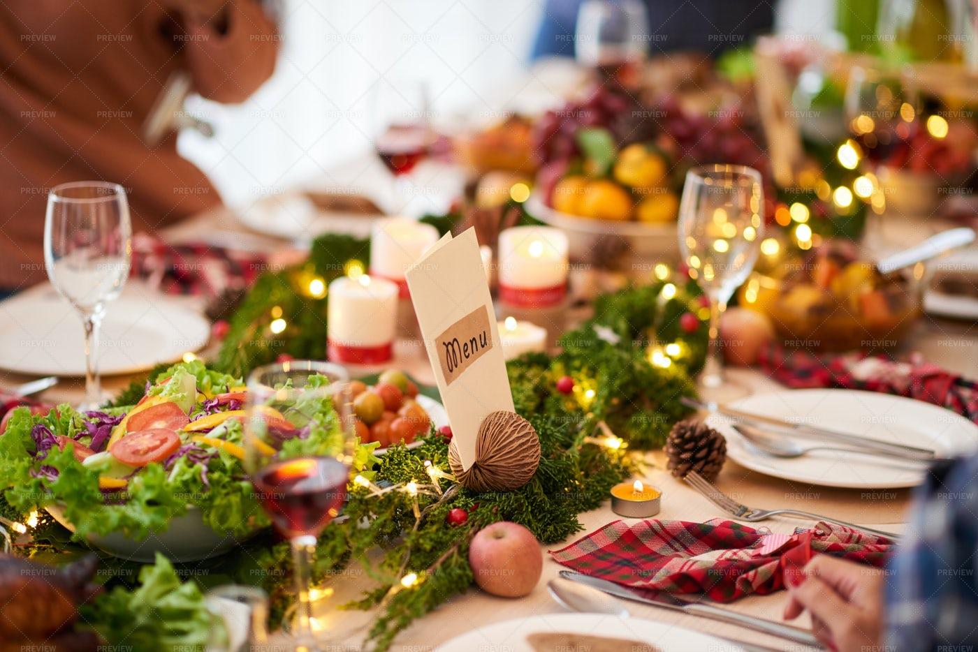 Christmas Dinner Table: Stock Photos