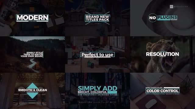 4k Modern Titles: After Effects Templates