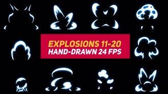 Liquid Elements Explosions 11-20: Motion Graphics