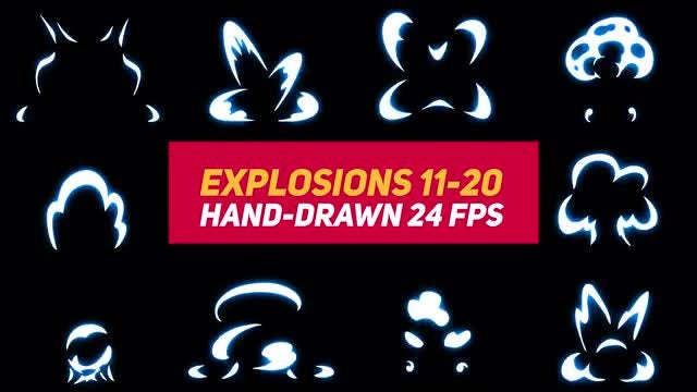 Liquid Elements Explosions 11-20: Stock Motion Graphics