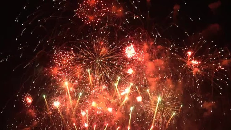 New Year Fireworks: Stock Footage