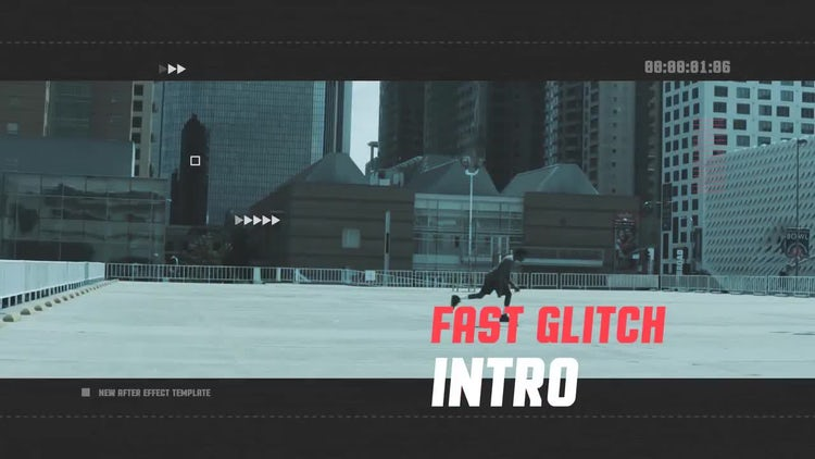 Fast Glitch Intro: After Effects Templates