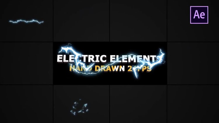 Flash FX Electric Elements And Transitions: After Effects Templates