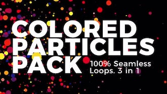Colored Particles: Motion Graphics
