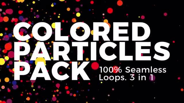 Colored Particles: Stock Motion Graphics