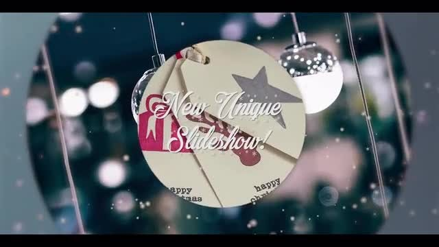Christmas Opener New Year Slideshow: Premiere Pro Templates
