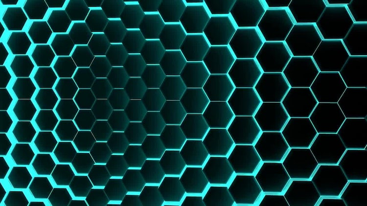 Hexagons Background: Motion Graphics