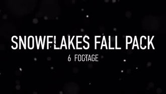 Snowflakes Fall Pack: Motion Graphics