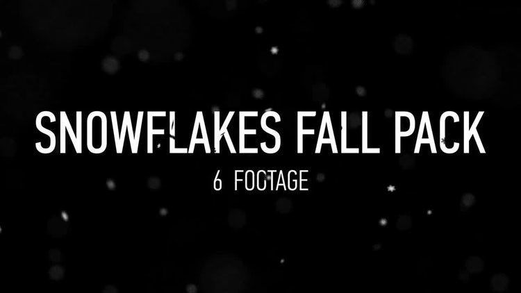 Snowflakes Fall Pack: Stock Motion Graphics