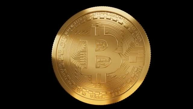 Bitcoin Animation Loop : Stock Motion Graphics