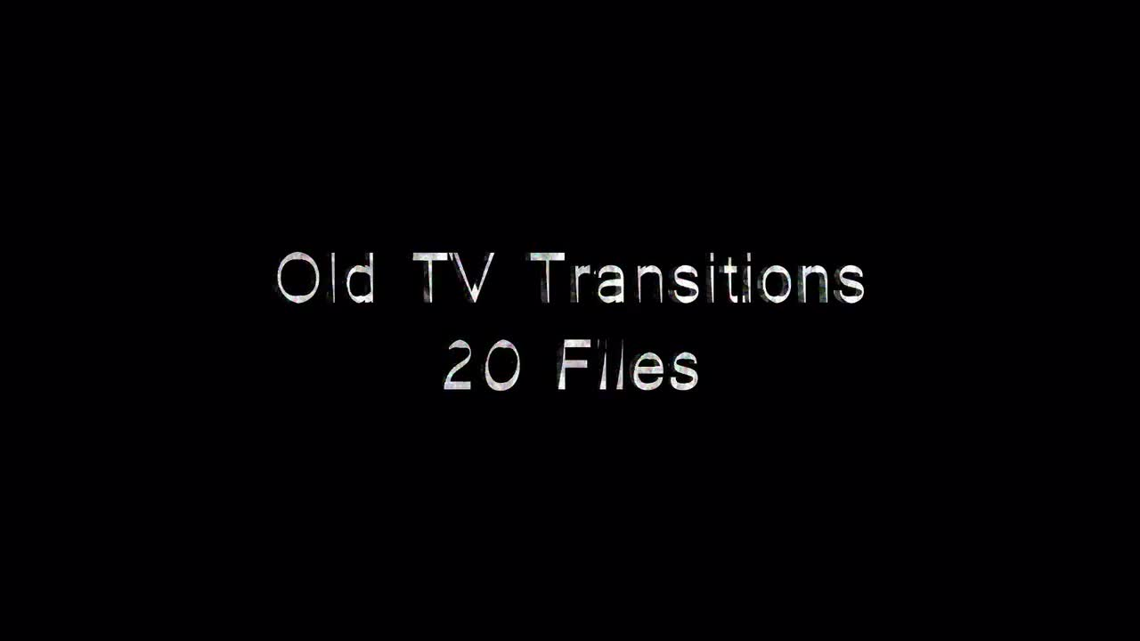 Old TV Transitions Motion Graphics 53246 -  Free download