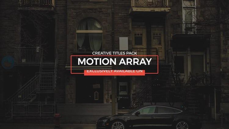 Titles Animation: Premiere Pro Templates